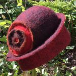felt hat made by Mandy Nash in Wales