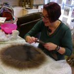 Mandy Nash demonstrating felt making
