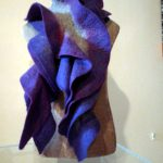frilly felt scarf by Mandy Nash