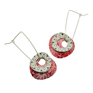 holey pebble earrings
