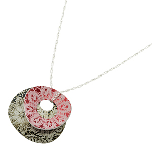 holey pebble necklace