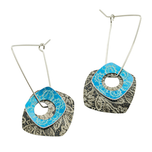 holey square earrings