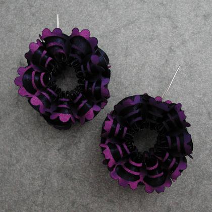 frilly earrings