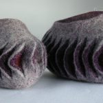 slash reveal felt vessels by Mandy Nash