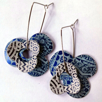 Mandy Nash anodised aluminium earrings