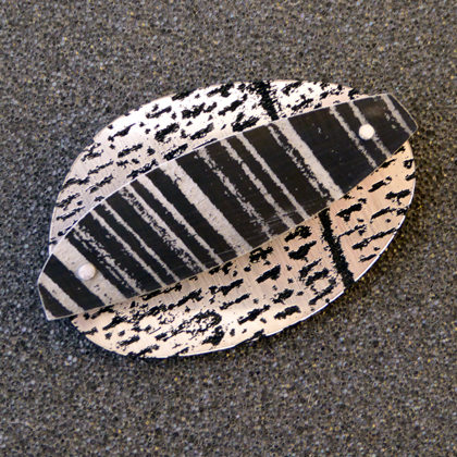 pebble brooch