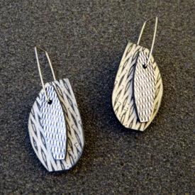 double strip earrings