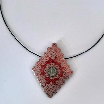 Diamond Necklace red £12.50 including postage