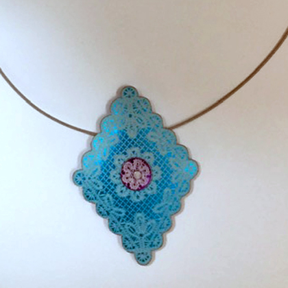 Diamond Necklace turquoise £12.50 including postage
