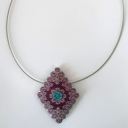 Diamond Necklace purple £12.50 including postage