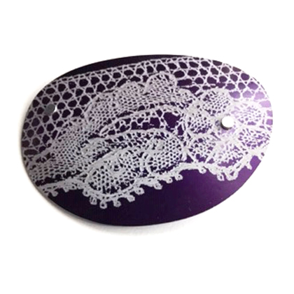 Lace Pebble Oval Brooch mauve £12.50 including postage