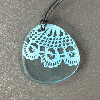 Acrylic Oval Necklace £8.50 including postage