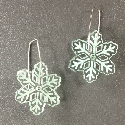 Acrylic Snowflake Earrings glass £11.50 including postage