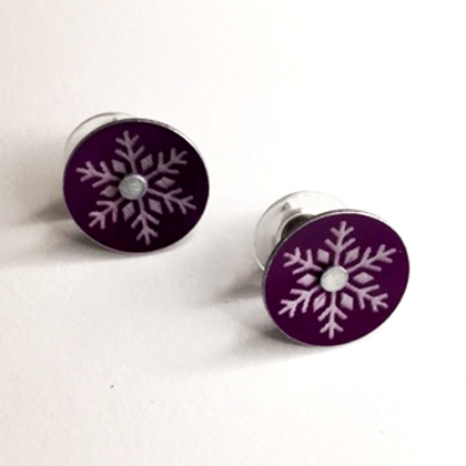 Snowflake earstuds mauve £12.50 including postage