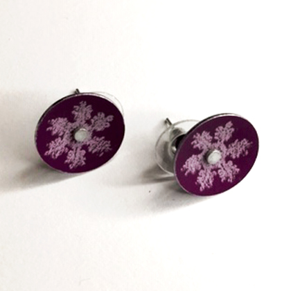 Snowflake earstuds purple £12.50 including postage