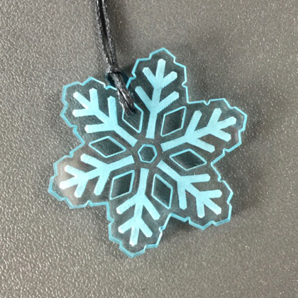 Acrylic Snowflake Necklace blue £8.50 including postage