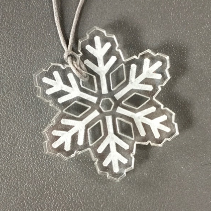 Acrylic Snowflake Necklace clear £8.50 including postage
