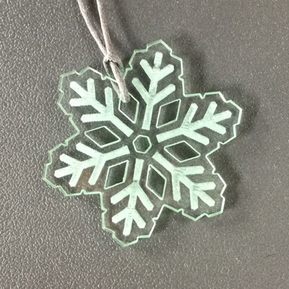 Acrylic Snowflake Necklace glass £8.50 including postage