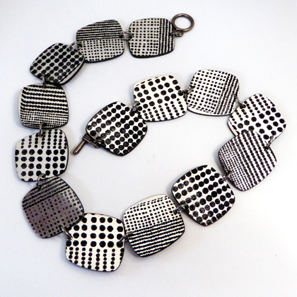square necklace silver