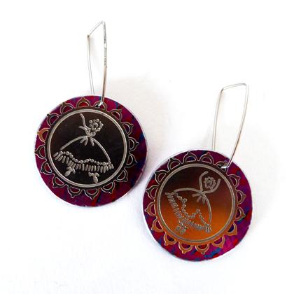 Ballerina earrings pink £12.50 including postage