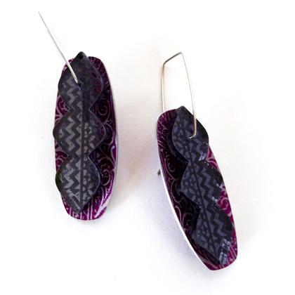 Miniato earrings purple/bronze £17.50 including postage