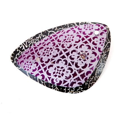 Miniato triangle brooch purple/black £17.50 including postage