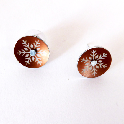 Snowflake earstuds small bronze £12.50 including postage