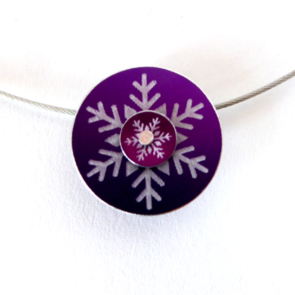 Snowflake necklace purple £12.50 including postage
