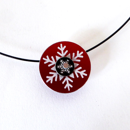 Snowflake necklace red £12.50 including postage